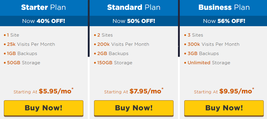 Hostgator Web Hosting plans