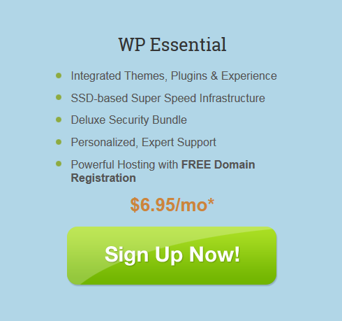 iPage Essential WordPress Hosting