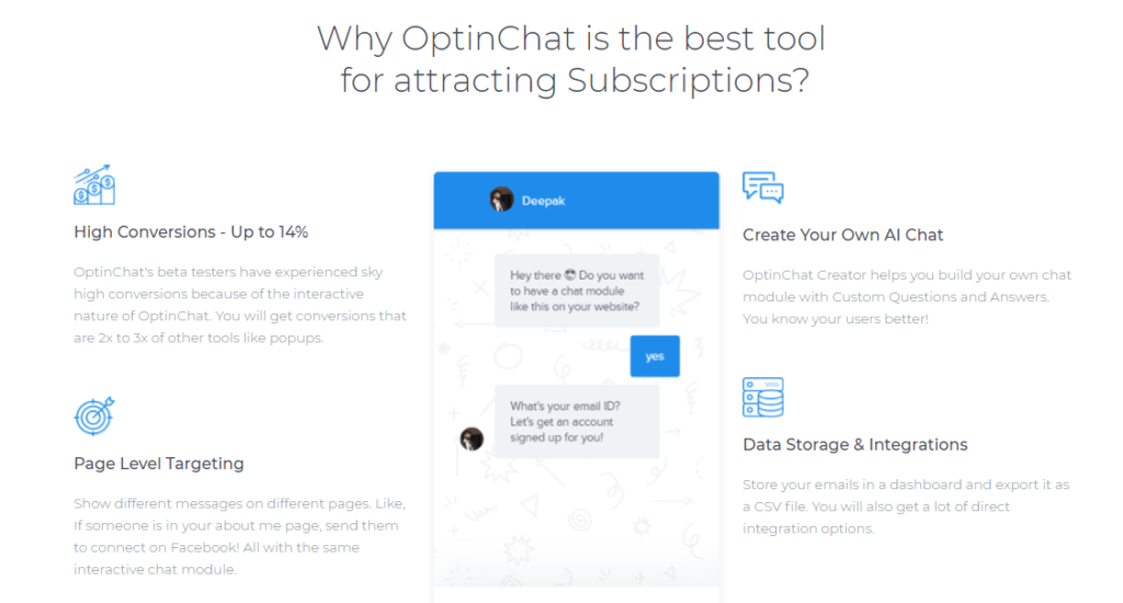 optinchat features